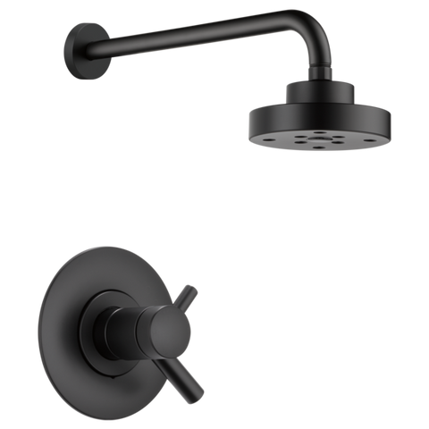 Brizo Jason Wu Tempassure Thermostatic Shower Trim Only in Matte Black - SpeedySinks