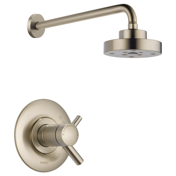 Brizo Odin Tempassure Thermostatic Shower Trim Only in Brushed Nickel - SpeedySinks