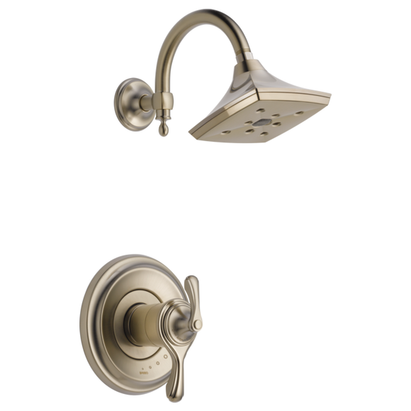 Brizo Charlotte Tempassure Thermostatic Shower Trim Only in Brushed Nickel - SpeedySinks