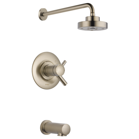 Brizo Odin Tempassure Thermostatic Tub/Shower in Brushed Nickel - SpeedySinks