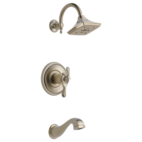 Brizo Charlotte Tempassure Thermostatic Tub/Shower Trim Only in Brushed Nickel - SpeedySinks