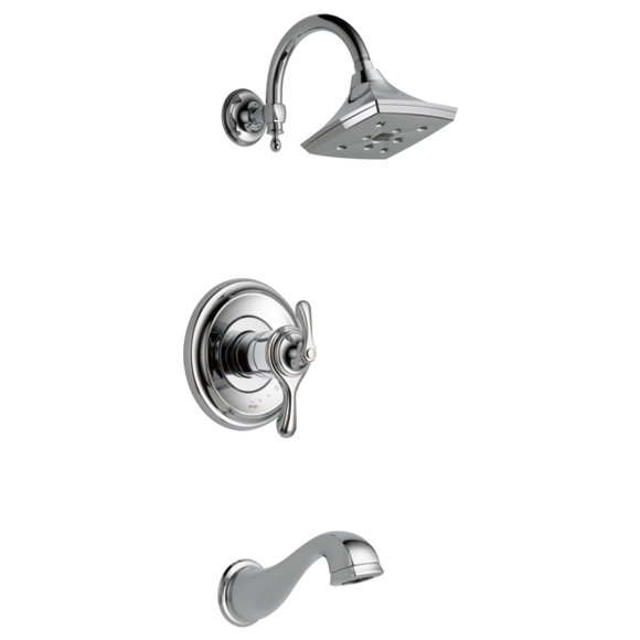 Brizo Charlotte Tempassure Thermostatic Tub/Shower Trim Only in Chrome - SpeedySinks