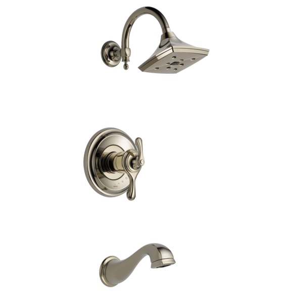 Brizo Charlotte Tempassure Thermostatic Tub/Shower Trim Only in Polished Nickel - SpeedySinks