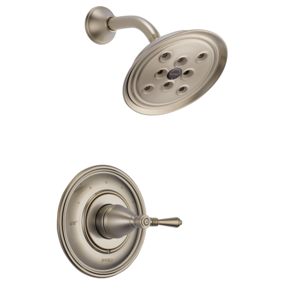 Brizo Traditional Pressure Balance Shower Trim Only in Brushed Nickel - SpeedySinks