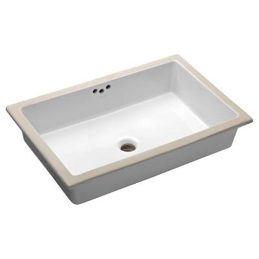 Oasis Tideway Large White Bathroom Porcelain Sink - SpeedySinks