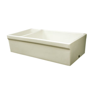 "Whitehaus WHQDB542 Fireclay Apron Front 36"" Kitchen Sink in Biscuit - SpeedySinks"