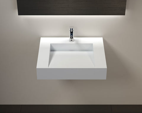 Oasis Mojave 27 Wall-Mounted Porcelain Bathroom Sink - SpeedySinks