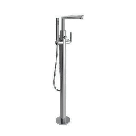 Moen Arris One-Handle Free Standing Tub Filler Includes Hand Shower in Chrome - SpeedySinks