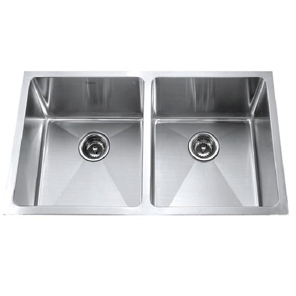 Master Chef Bordeaux Radial Stainless Steel Double Bowl Culinary Sink - SpeedySinks