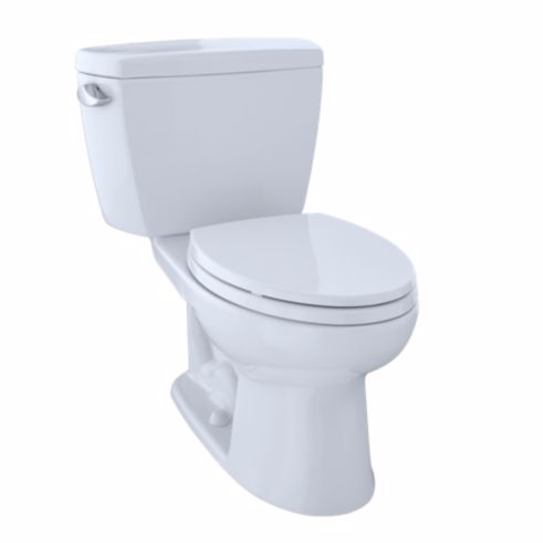 Toto Drake Two-Piece Toilet, 1.6 GPF, ADA Compliant, Elongated Bowl - SpeedySinks