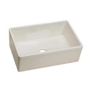 "Elkay Fireclay 29-7/8"" x 19-3/4"" x 10-1/16"", Single Bowl Farmhouse Sink in Biscuit"