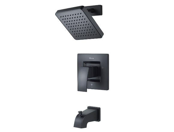Pfister Kenzo 1-Handle Tub & Shower, Trim Only in Black