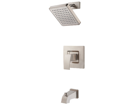Pfister Kenzo 1-Handle Tub & Shower, Trim Only in Brushed Nickel - SpeedySinks