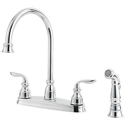 Pfister Avalon 2-Handle Kitchen Faucet in Polished Chrome - SpeedySinks