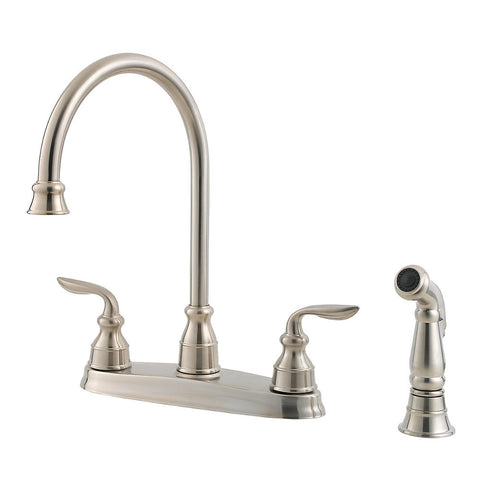 Pfister Avalon 2-Handle Kitchen Faucet in Stainless - SpeedySinks
