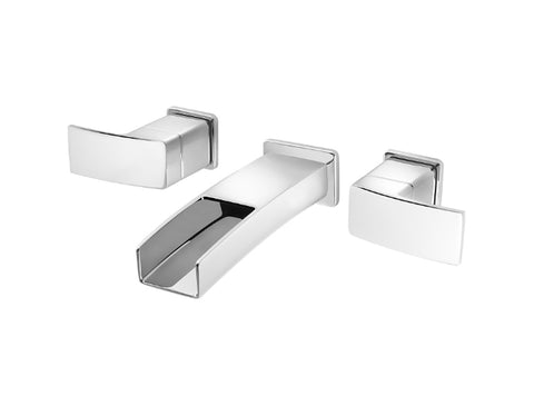 Pfister Kenzo Wall Mount Widespread Trough Bath Faucet in Chrome