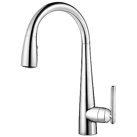 Pfister Lita 1 with Xtract™, 1-Handle Pull Down Bar and Prep Faucet in Polished Chrome