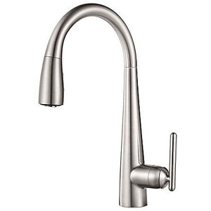 Pfister Lita 1 with Xtract™, 1-Handle Pull Down Bar and Prep Faucet in Stainless Steel - SpeedySinks