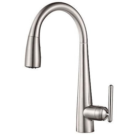 Pfister Lita 1 with Xtract™, 1-Handle Pull Down Bar and Prep Faucet in Stainless Steel