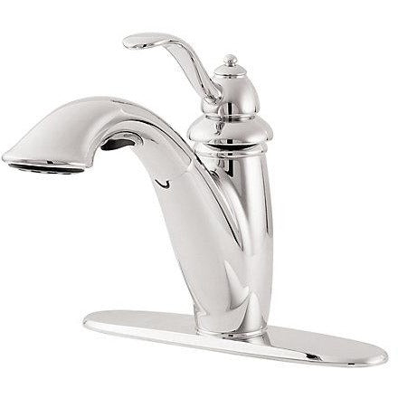 Pfister Marielle 1-Handle, Pull-Out Kitchen Faucet in Polished Chrome - SpeedySinks