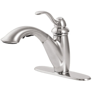 Pfister Marielle 1-Handle, Pull-Out Kitchen Faucet in Stainless Steel - Chariotwholesale