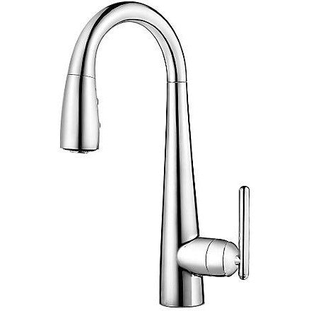 Pfister Lita 1 Handle Pull Down Bar and Prep Faucet in Polished Chrome - SpeedySinks