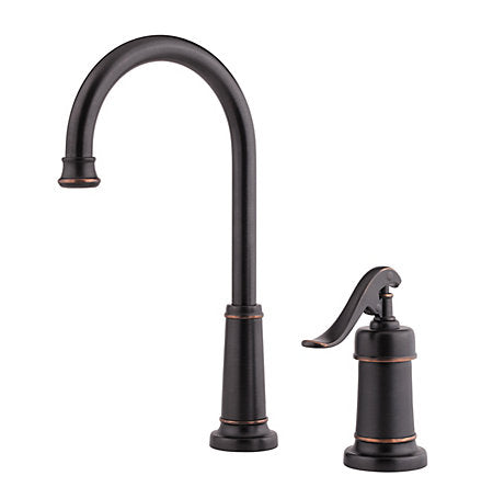 Pfister Ashfield 1-Handle Bar/Prep Faucet in Tuscan Bronze - SpeedySinks