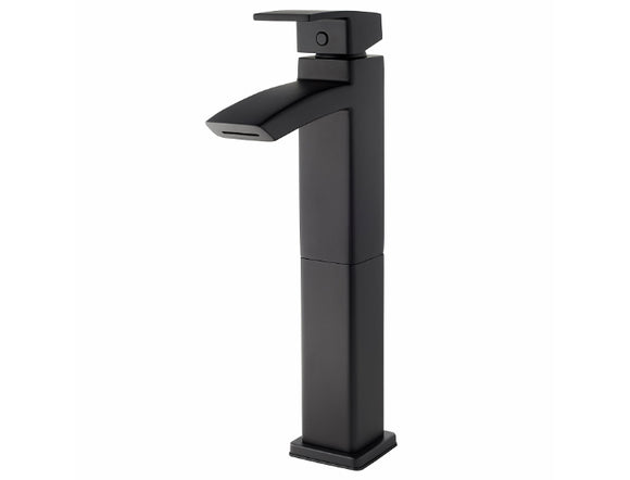 Pfister Kenzo Single Handle Vessel Faucet in Black - Chariotwholesale