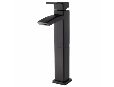 Pfister Kenzo Single Handle Vessel Faucet in Black
