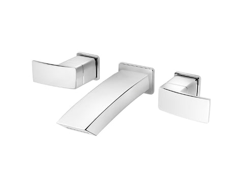 Pfister Kenzo Wall Mount Widespread Bath Faucet in Chrome
