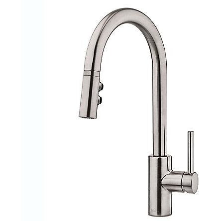 Pfister Stellen 1-Handle Pull Down Kitchen Faucet in Stainless Steel - SpeedySinks