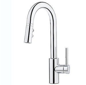 Pfister Stellen 1-Handle Pull Down Bar/Prep Faucet in Polished Chrome - SpeedySinks