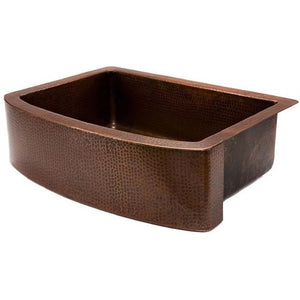 Log Cabin Sequoia Rounded Apron Front Copper Kitchen Sink - Chariotwholesale