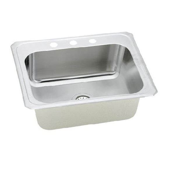 Presidential Mckinley 3 Hole 18 Gauge Topmount Stainless Steel Sink - SpeedySinks