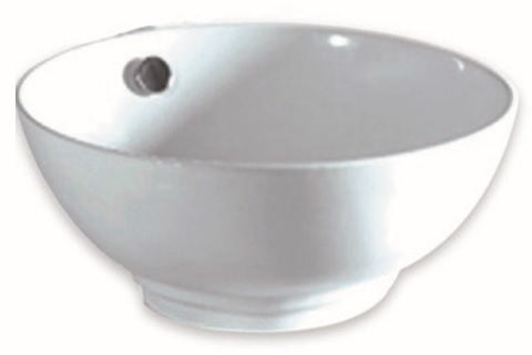 Oasis Mixing Bowl Porcelain Vessel Sink in White