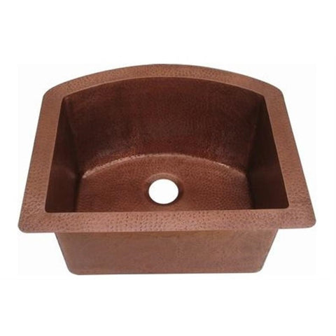 Oriental Kitchenette Curved Single Basin Universal Mount Copper Sink - SpeedySinks