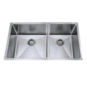 Master Chef Orleans Radial 60/40 Stainless Steel Double Bowl Culinary Sink - SpeedySinks
