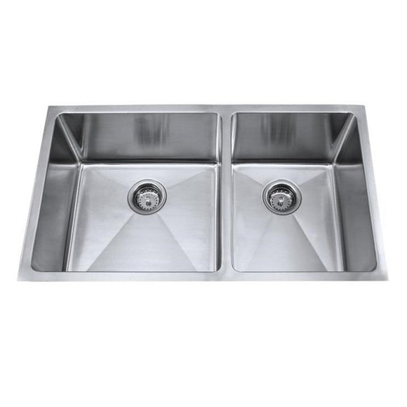 Master Chef Orleans Radial 60/40 Stainless Steel Double Bowl Culinary Sink