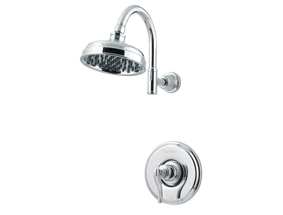 Pfister Ashfield 1-Handle Shower, Trim Only in Chrome - Chariotwholesale