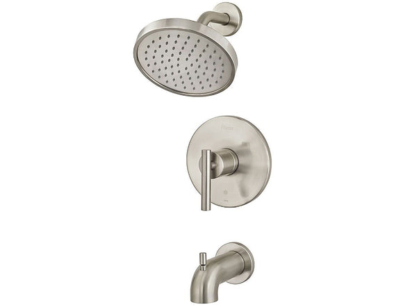 Pfister Contempra 1-Handle Tub & Shower, Trim Only in Brushed Nickel