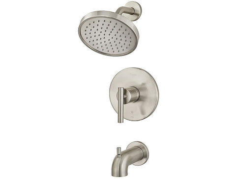 Pfister Contempra 1-Handle Tub & Shower, Trim Only in Brushed Nickel - SpeedySinks