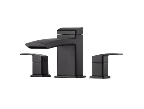 Pfister Kenzo 3-Hole Roman Tub, Trim Only in Black