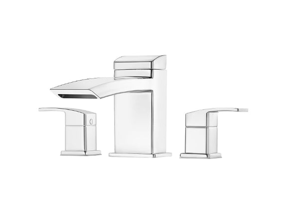 Pfister Kenzo 3-Hole Roman Tub, Trim Only in Chrome