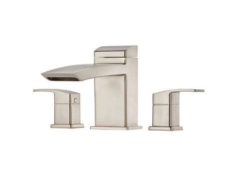 Pfister Kenzo 3-Hole Roman Tub, Trim Only in Brushed Nickel