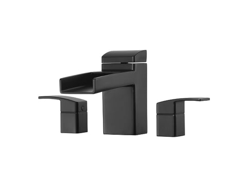 Pfister Kenzo 3-Hole Trough Roman Tub, Trim Only in Black