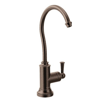 Moen Sip Traditional One-Handle High Arc Beverage Faucet in Oil Rubbed Bronze - Chariotwholesale