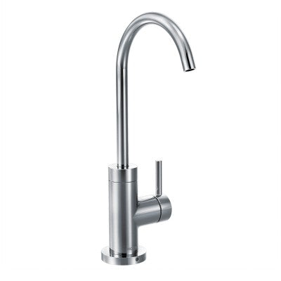 Moen Sip Modern One-Handle High Arc Beverage Faucet in Chrome - Chariotwholesale