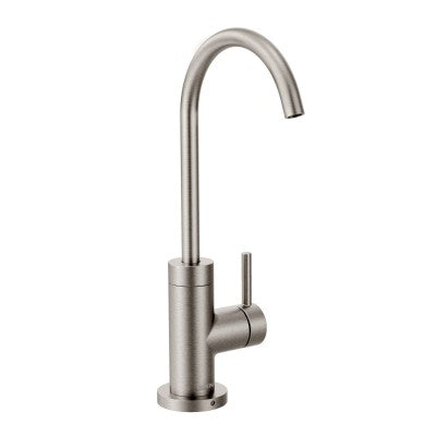 Moen Sip Modern One-Handle High Arc Beverage Faucet in Spot Resist Stainless - Chariotwholesale