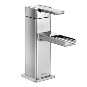 Moen 90 Degree One Handle Open Waterway Bathroom Faucet in Chrome - SpeedySinks