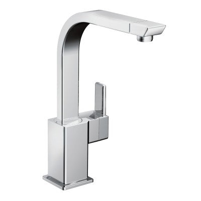 Moen 90 Degree One Handle High Arc Kitchen Faucet in Chrome